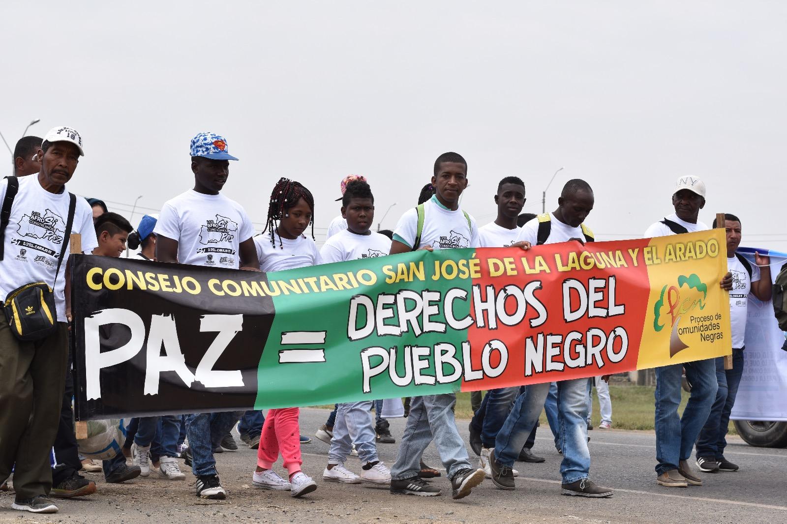 Afros e indígenas se unieron para decir sí al fin del conflicto en Colombia