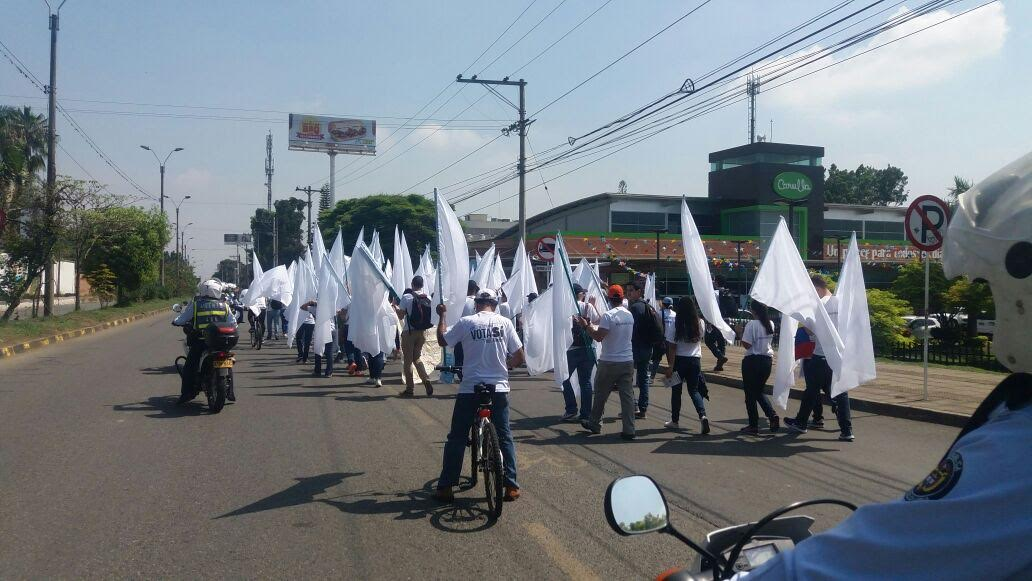 Universitarios de Cali marcharon por el Sí al plebiscito