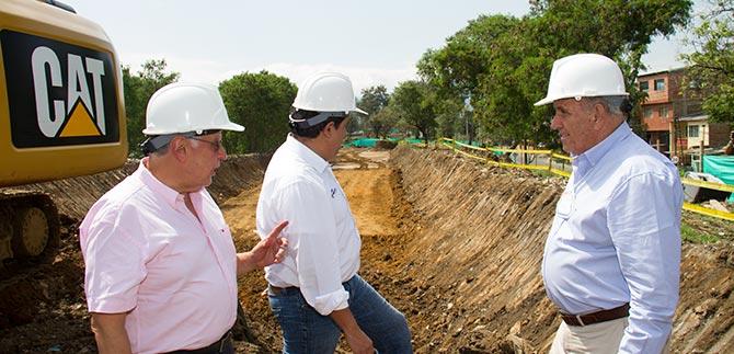 Obras del Plan Jarillón de Cali avanzan en el ritmo que estaba programado