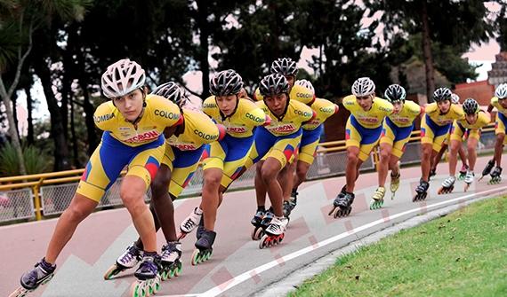 Selección Colombia de patinaje ganó tres oros en pruebas de ruta