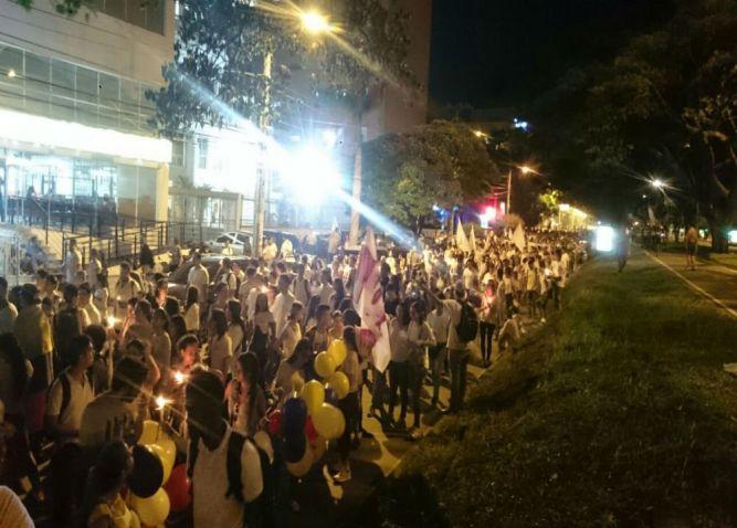 4.000 caleños se sumaron a la marcha nacional por la paz