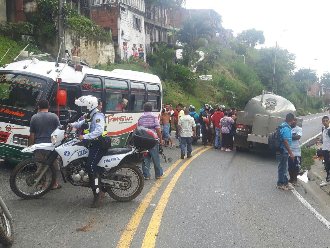 Muere motociclista en accidente en la vía al mar