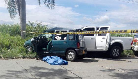 Accidente en la vía El Bolo, Palmira, deja una mujer muerta y otra herida