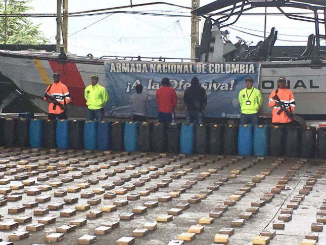 Armada Nacional incautó media tonelada de cocaína en el Pacífico