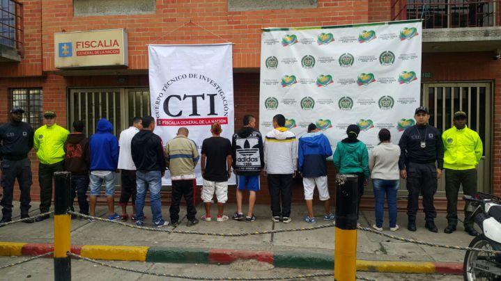 Autoridades desarticulan a la banda 'Los 15 letras' en Yumbo, Valle
