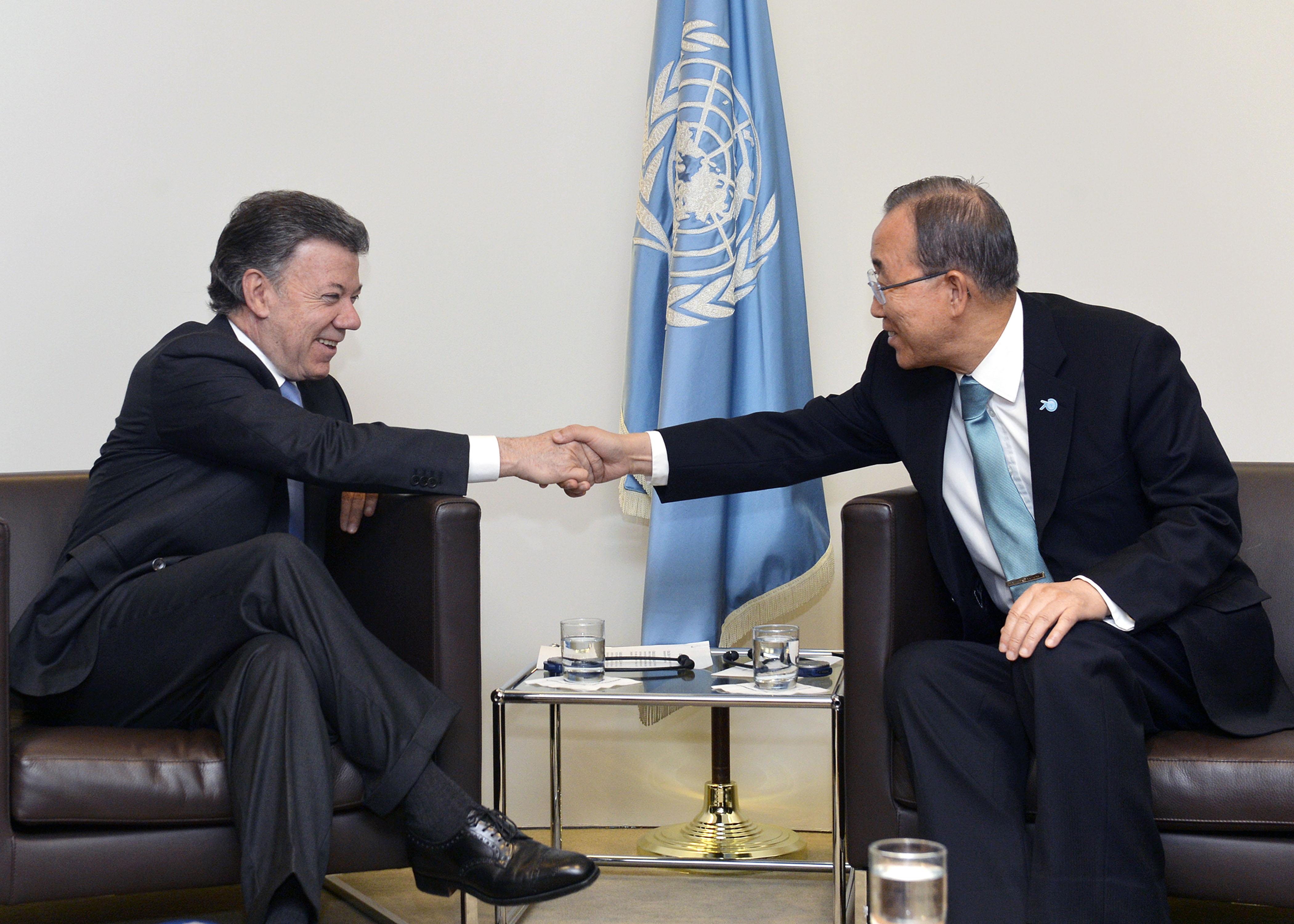 Ban Ki-moon espera acuerdo de paz con ELN tan pronto como sea posible