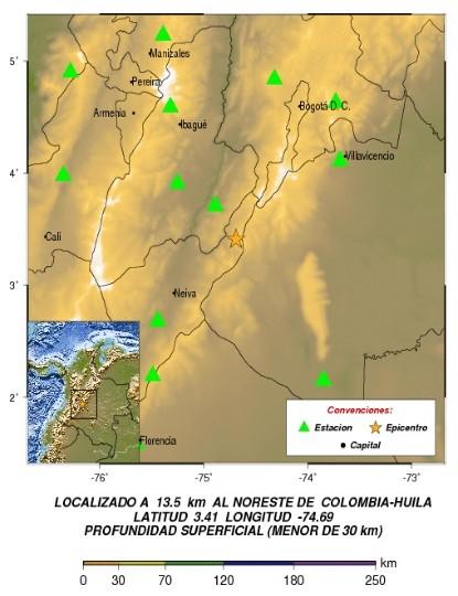 Dos temblores se sintieron en el centro de Colombia sin daños materiales
