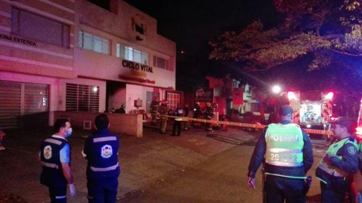 Incendio se presentó en clínica para enfermos mentales en Cali