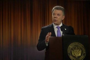 """""""Alto el fuego con Farc estará en vigor hasta 31 de octubre"""": Santos"""