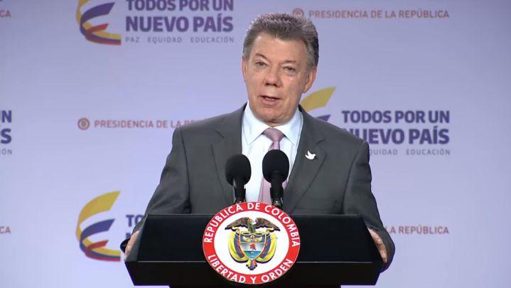 """""""Debemos perseverar, la paz de Colombia está cerca y la vamos a alcanzar"""": Santos"""