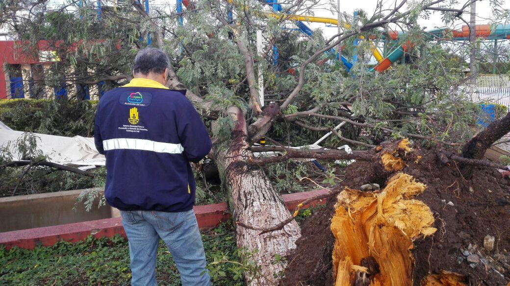Un muerto dejó vendaval en Acuaparque de la Caña en Cali