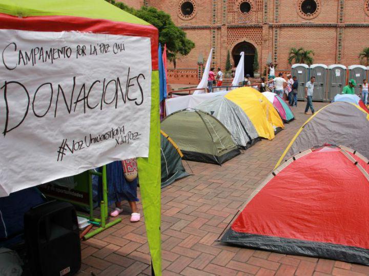 Baños públicos de Campamentos por la Paz serían retirados