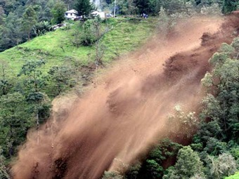 Deslizamiento de tierra afecta zona rural del municipio de Ginebra-Valle