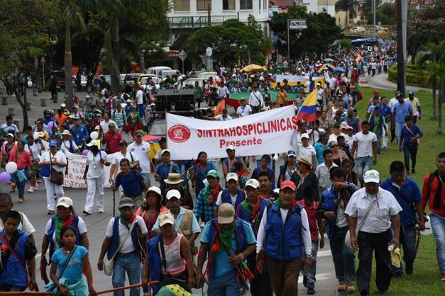 En imágenes: Así marcharon los indígenas del Cauca en apoyo a la paz