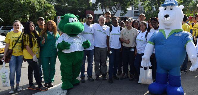 Los caleños se unieron a la campaña 'Limpiemos Colombia'