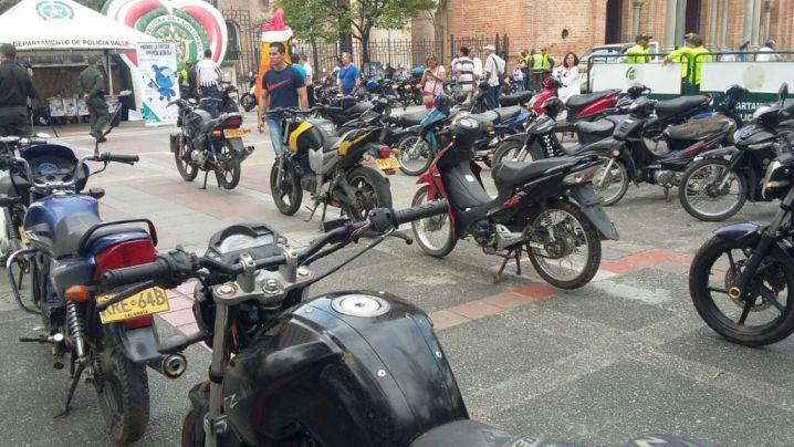 Policía recupera 50 motos que habían sido hurtadas en el Valle