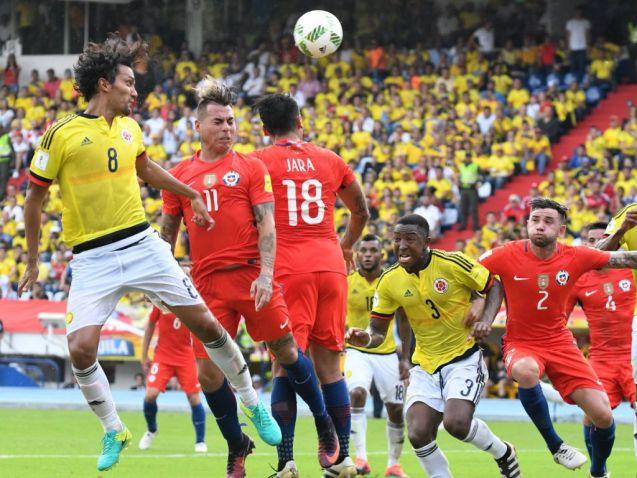 Una Colombia opaca dejó escapar dos puntos ante Chile