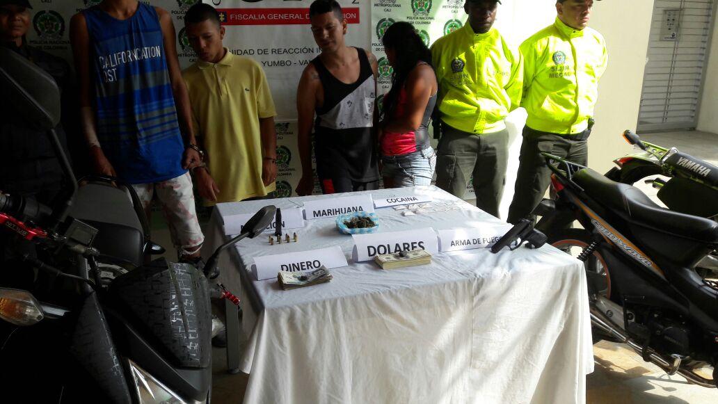 Capturan cuatro integrantes de la banda criminal 'El Tobogan' en Yumbo