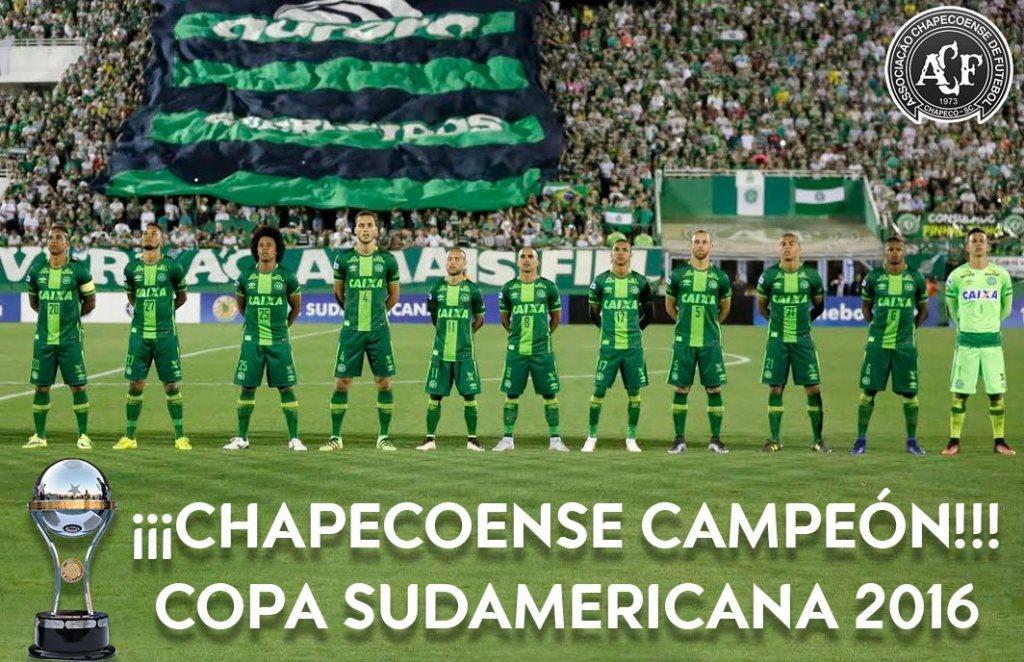 Conmebol entregó a Chapecoense título de la Copa Sudamericana 2016