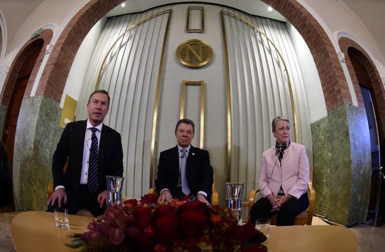 Llega a Oslo el presidente Santos para recibir Nobel de la Paz