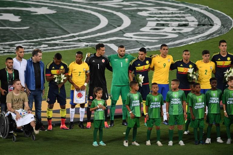 Brasil vence 1-0 a Colombia en juego de homenaje al Chapecoense