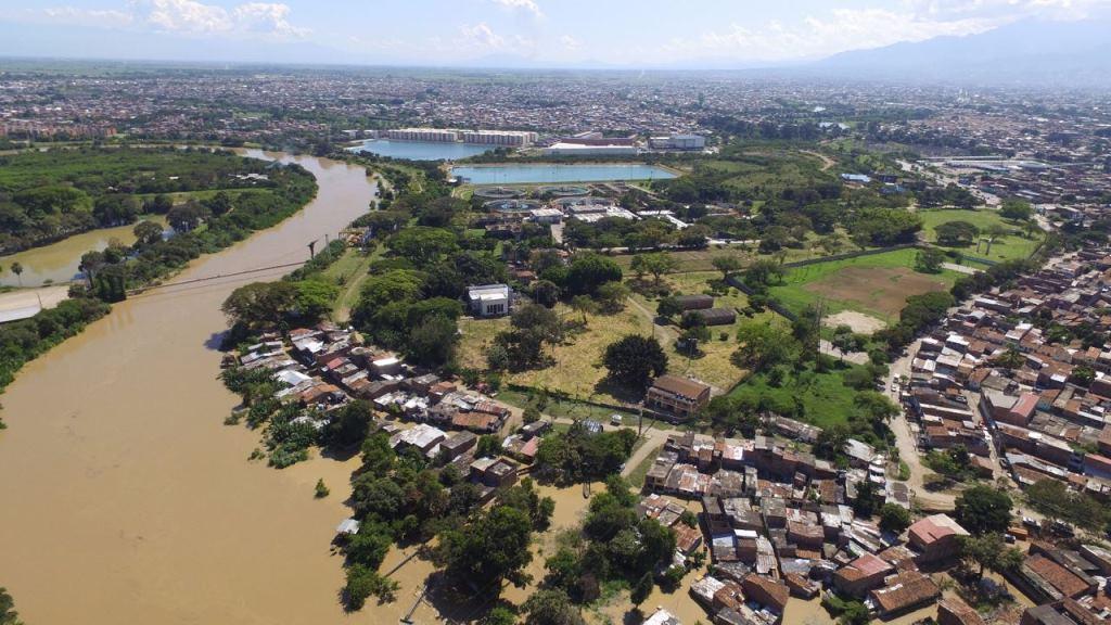 Desde el aire: así se registró el desbordamiento del Río Cauca