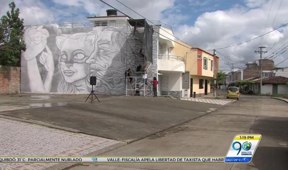 Joven de Roldanillo creó el mural más grande hecho a lápiz en Colombia