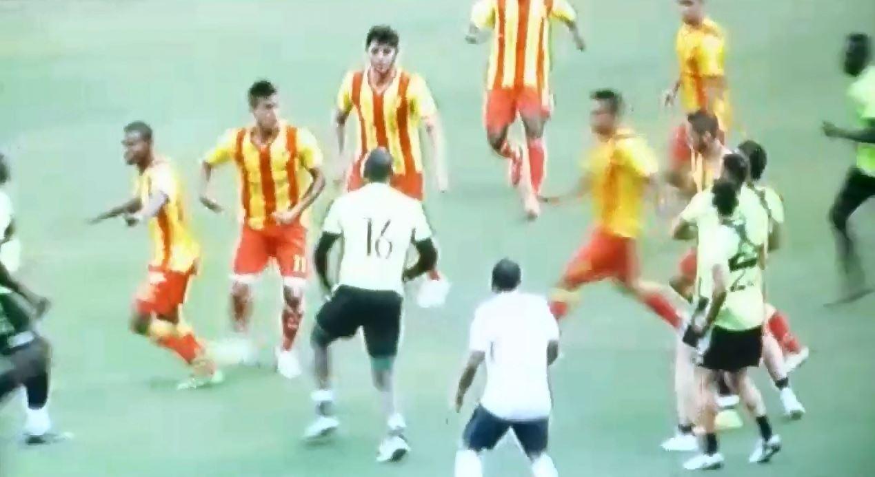Partido amistoso entre Deportivo Cali y Pereira a los puños