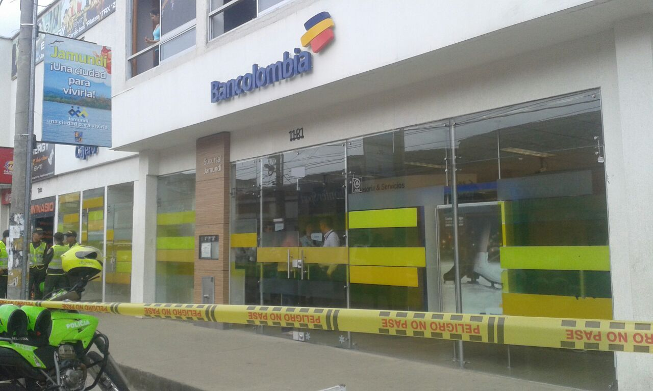 Frustran intento de robo a banco en el centro de Jamundí