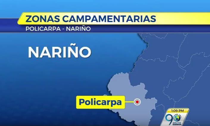 Lista primera zona de preagrupamiento de las Farc en Nariño