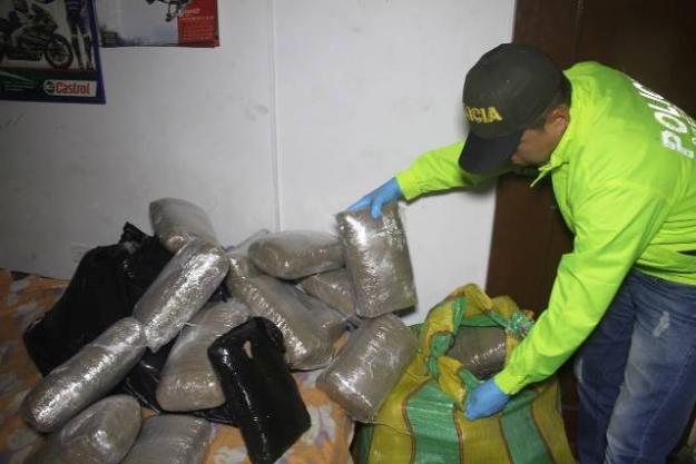 Policia Metropolitana incauta una tonelada de marihuana en Cali