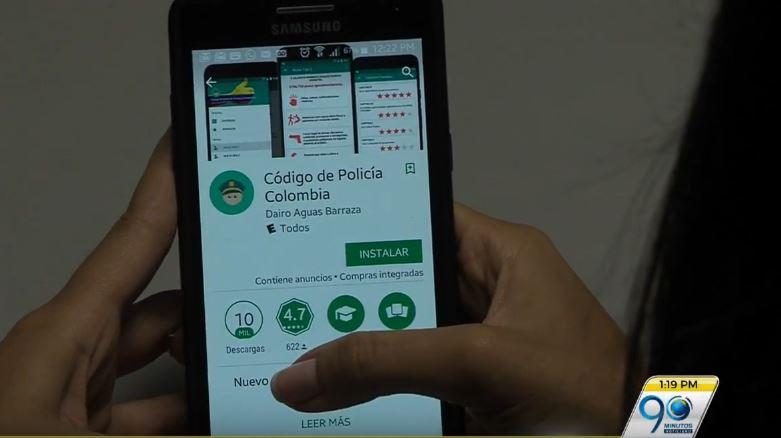 Dudas sobre Código de Policía se podrán consultar por medio de una app para celular