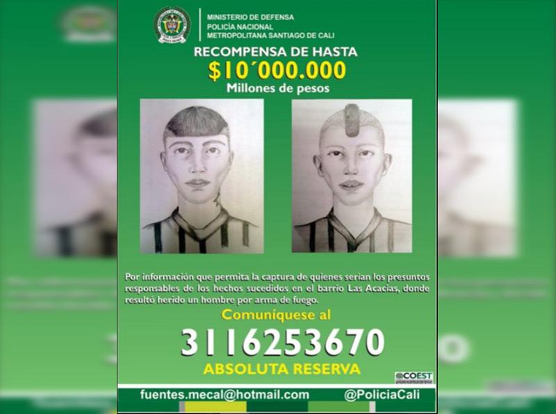 Ofrecen 10 millones de recompensa por información sobre sicarios que atacaron a conductor en Cali