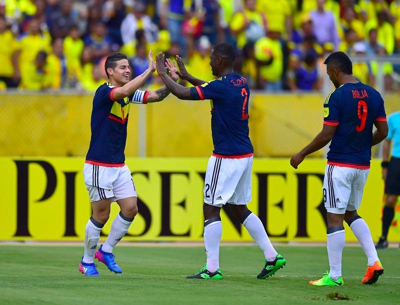 Con goles de James y Cuadrado, Colombia ganó 0-2 en el Atahualpa de Quito