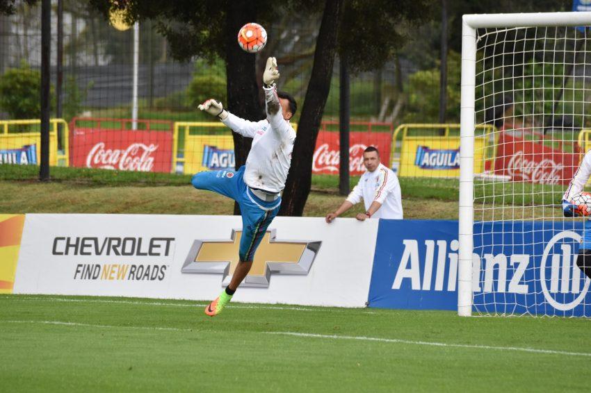 La Selección Colombia entrenó este sábado con miras al juego contra Perú