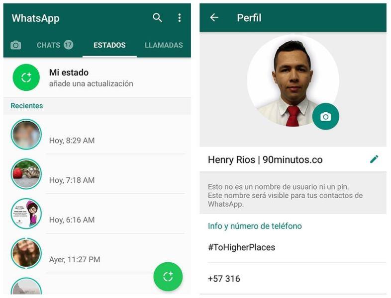 WhatsApp volverá a los estados de texto tras poco acogida de los nuevos