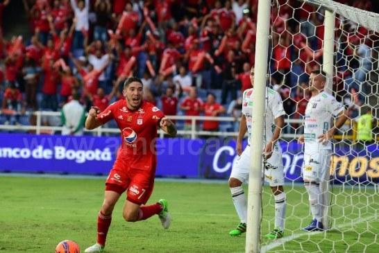 Con un Martínez Borja inspirado, América 'resucitó' y goleó 4-2 a Once Caldas