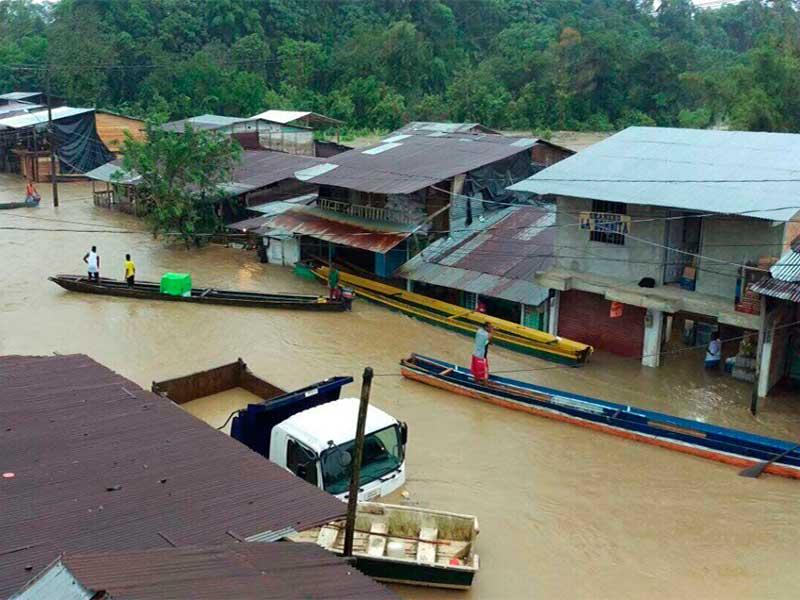 Creciente del río Andagueda afectó varios corregimientos de Bagadó