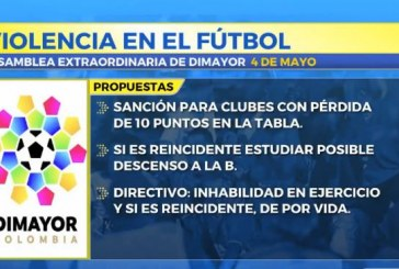 Dimayor estudiará propuesta para sancionar equipos que apoyen barras violentas