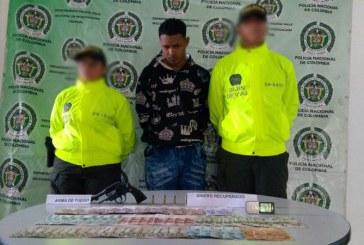 Policía capturó a alias Mil Quinientos el terror de las estaciones de servicios en Palmira