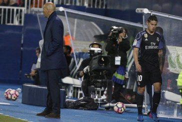 En video: La reacción de James Rodríguez al ser sustituido por Zinedine Zidane