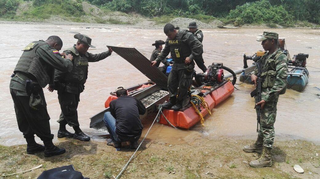 Capturan banda dedicada a la minería ilegal en Buenaventura
