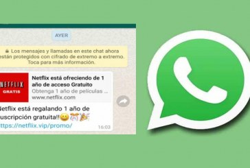 La engañosa cadena de WhatsApp que le ofrece un año gratis de Netflix