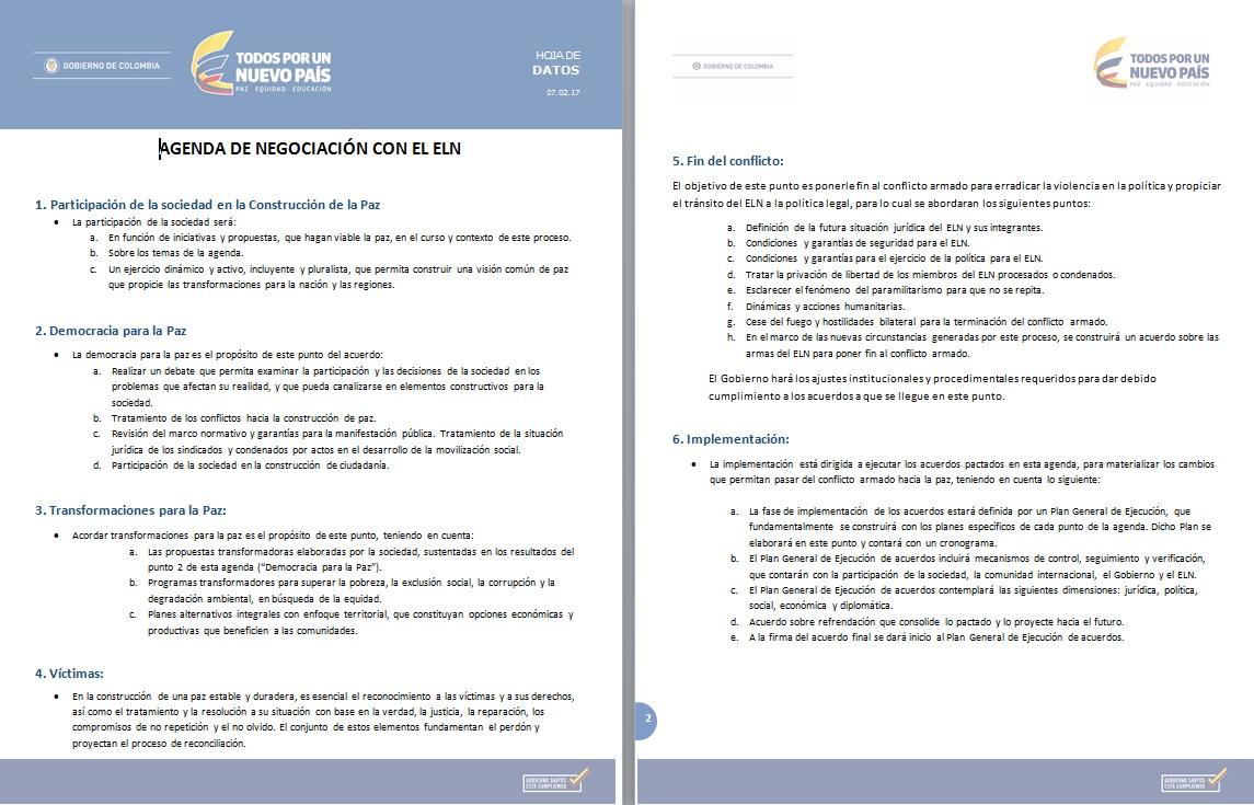Con optimismo arrancó nuevo ciclo de negociaciones Gobierno-ELN