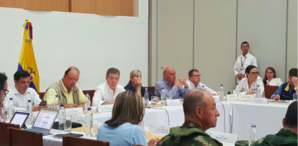 Presidente Santos visitó y evaluó el reforzamiento del Jarillón del río Cauca