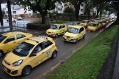 Con gran congestión en los accesos a Cali, transcurrió paro de taxistas
