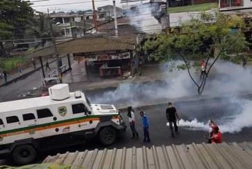 Tensión por enfrentamientos entre Fuerza Pública y bonaverenses esta madrugada
