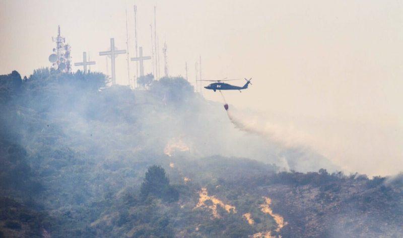 Alerta en todo el país por incendios forestales debido a las altas temperaturas