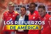 América presentó cuatro caras nuevas para el segundo semestre de la Liga Águila