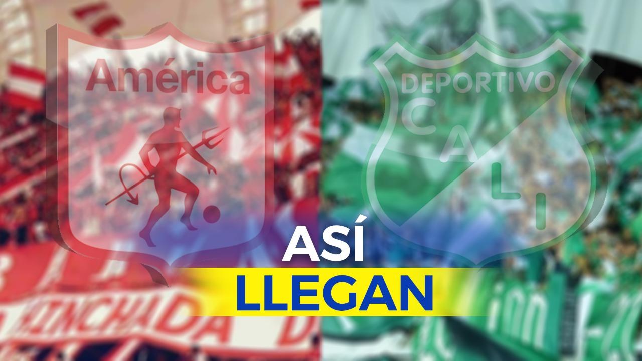 Así llegan Deportivo Cali y América al primer clásico de la semifinal de Liga Águila